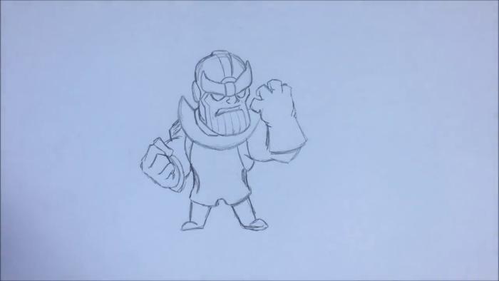 Как нарисовать чиби Таноса 10