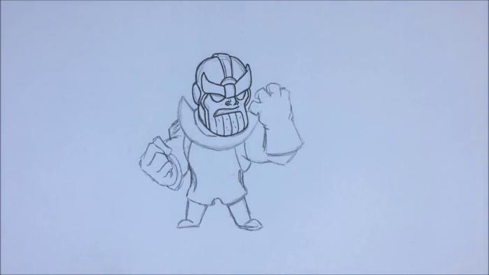 Как нарисовать чиби Таноса 11