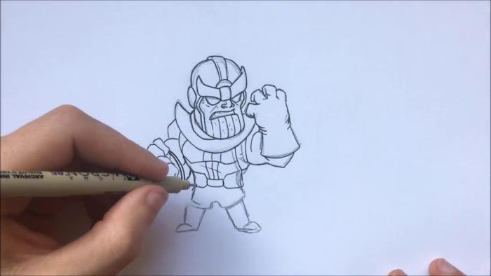 Как нарисовать чиби Таноса 13