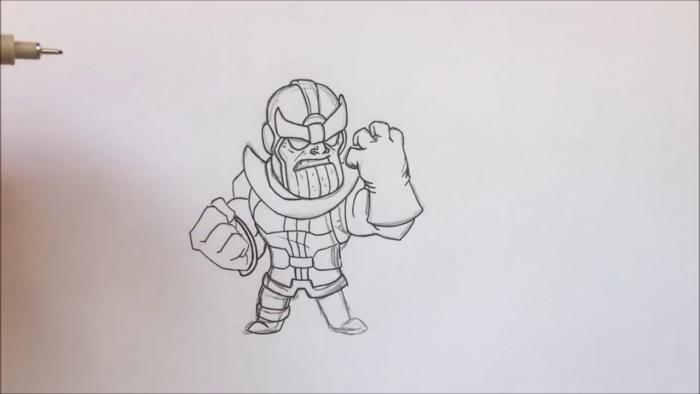 Как нарисовать чиби Таноса 14