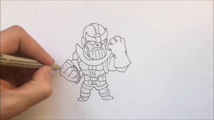 Как нарисовать чиби Таноса 15
