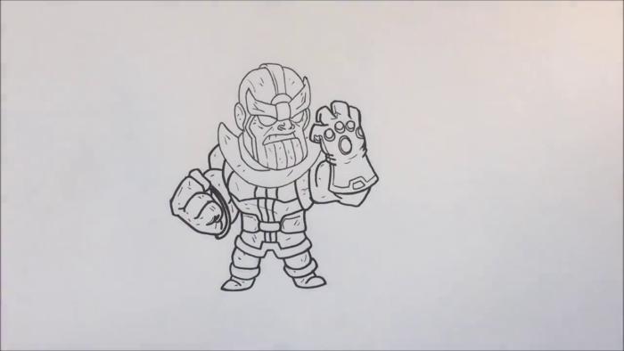 Как нарисовать чиби Таноса 17