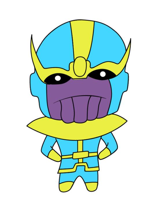 Как нарисовать Таноса из комиксов