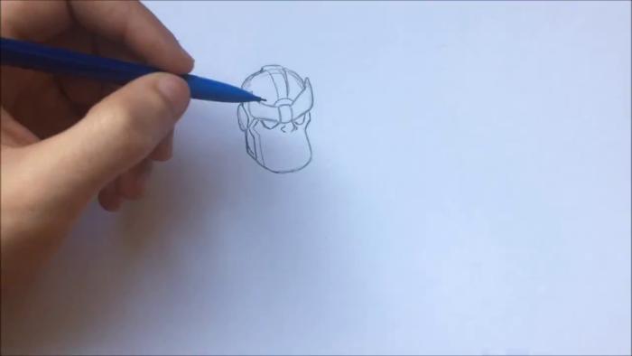Как нарисовать чиби Таноса 3
