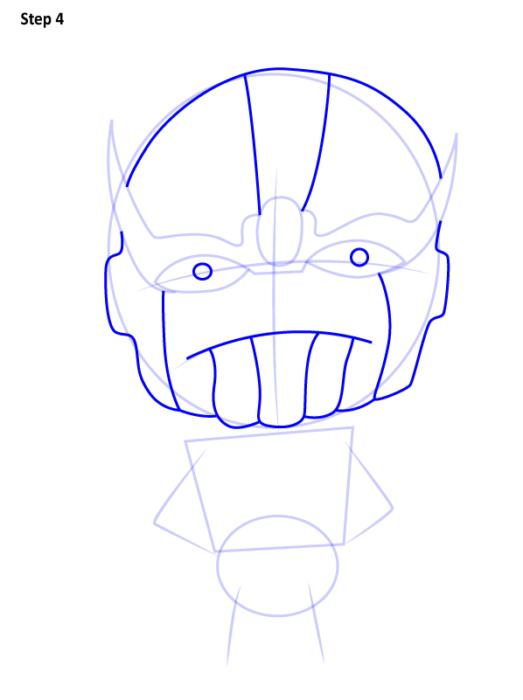 Как нарисовать Таноса из комиксов 4
