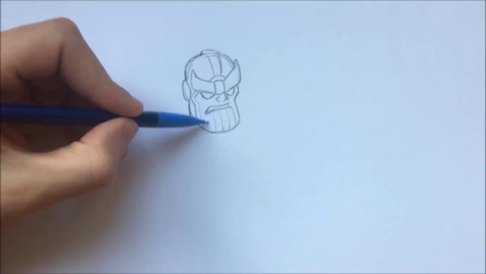 Как нарисовать чиби Таноса 4