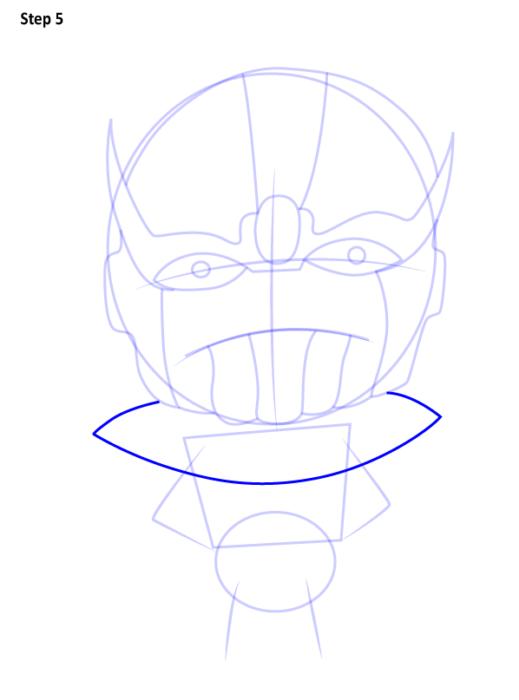 Как нарисовать Таноса из комиксов 5