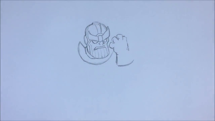 Как нарисовать чиби Таноса 5