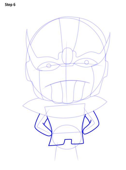 Как нарисовать Таноса из комиксов 6