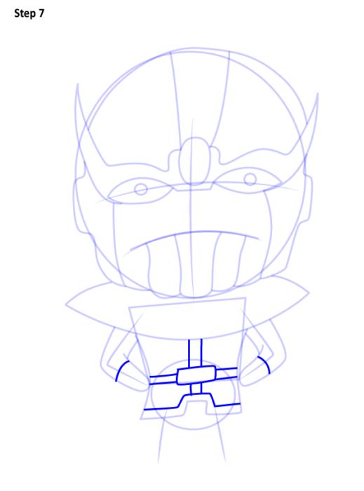 Как нарисовать Таноса из комиксов 7