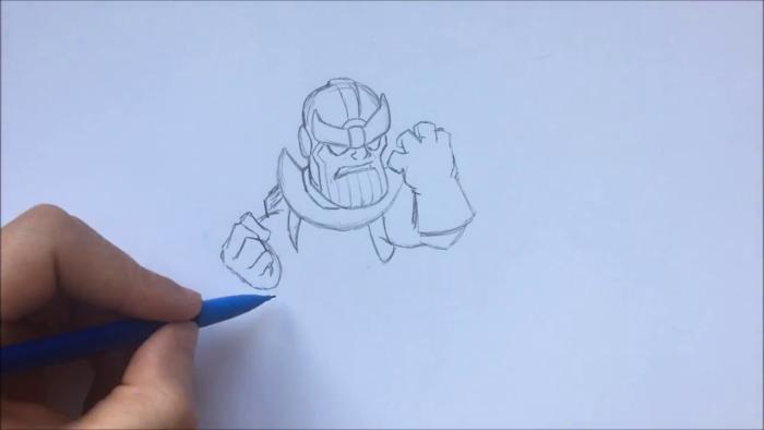Как нарисовать чиби Таноса 7