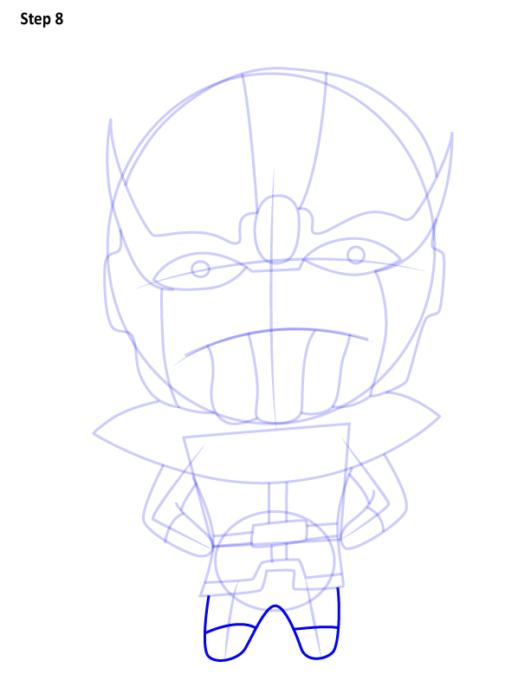 Как нарисовать Таноса из комиксов 8