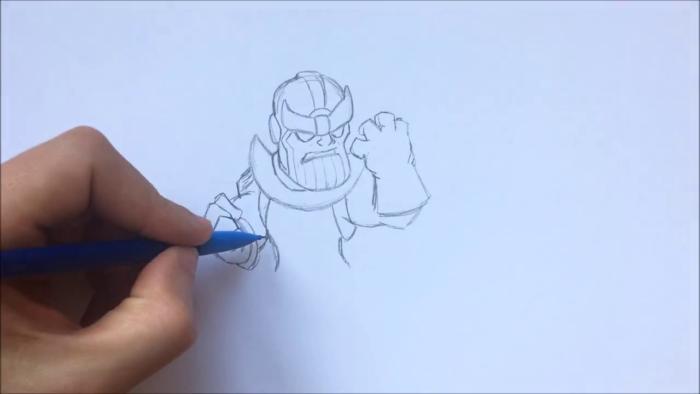 Как нарисовать чиби Таноса 8