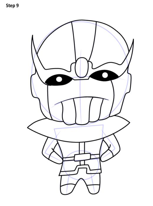 Как нарисовать Таноса из комиксов 9