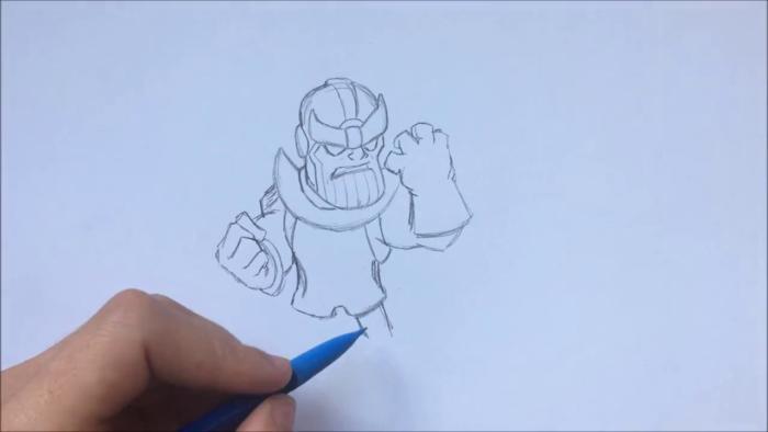 Как нарисовать чиби Таноса 9