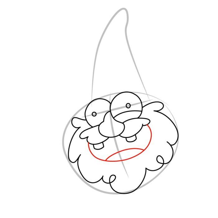 Как нарисовать гнома из Гравити фолз 4