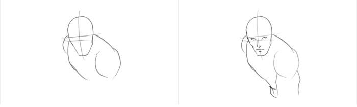 Как нарисовать Хоукая 1
