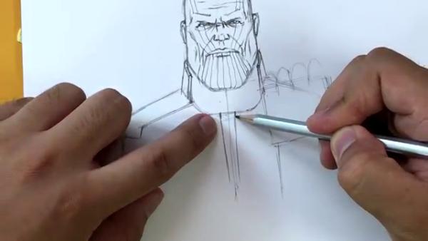 Как нарисовать Таноса из фильма 12