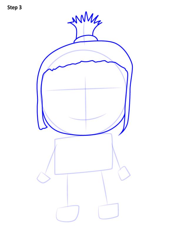 Как нарисовать Агнес из Гадкий Я 3