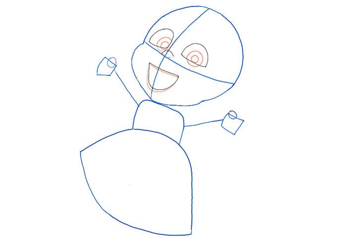 поэтапно рисуем Ангес 3