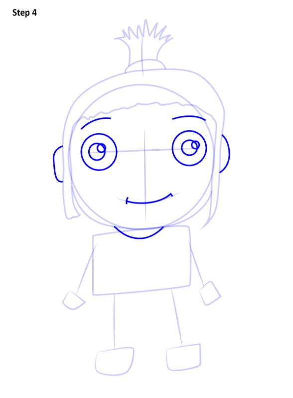 Как нарисовать Агнес из Гадкий Я 4