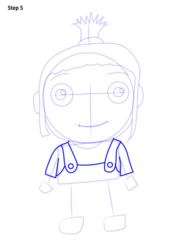 Как нарисовать Агнес из Гадкий Я 5