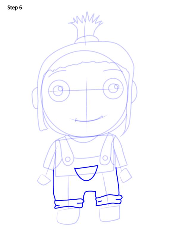 Как нарисовать Агнес из Гадкий Я 6