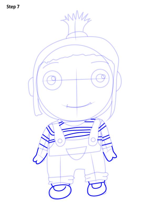 Как нарисовать Агнес из Гадкий Я 7