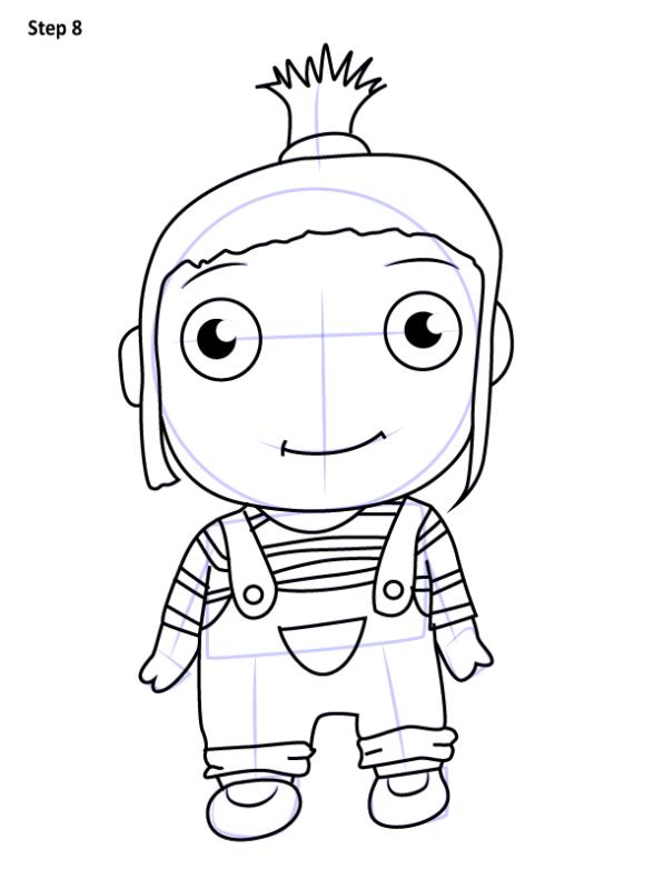 Как нарисовать Агнес из Гадкий Я 8