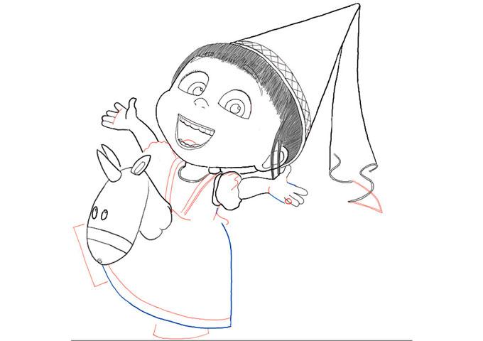 поэтапно рисуем Ангес 8