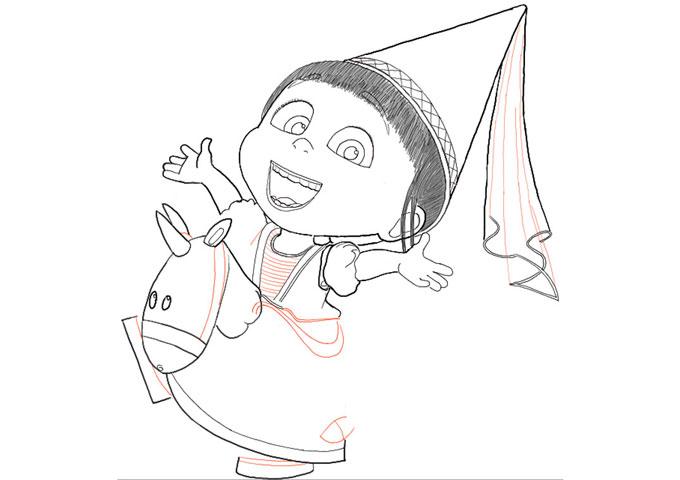 поэтапно рисуем Ангес 9