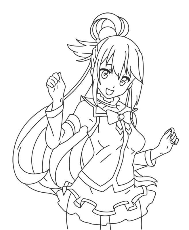 Как нарисовать богиню Акву 10