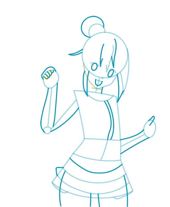 Как нарисовать богиню Акву 3
