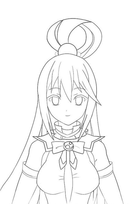 Рисуем Акву из аниме 13