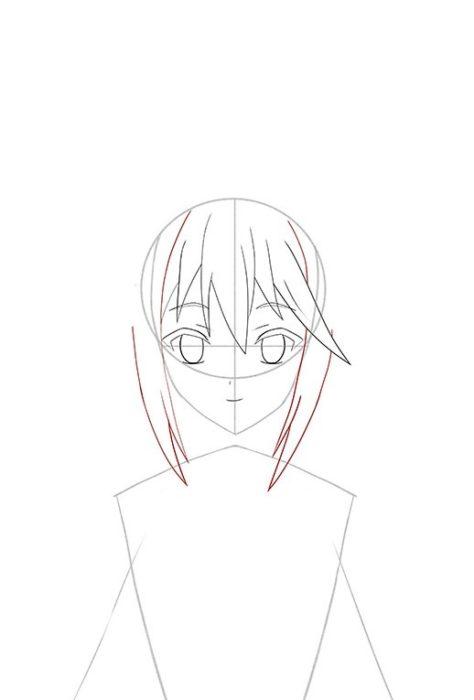 Рисуем Акву из аниме 6