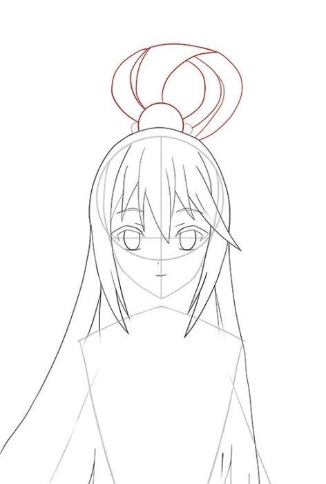 Рисуем Акву из аниме 8