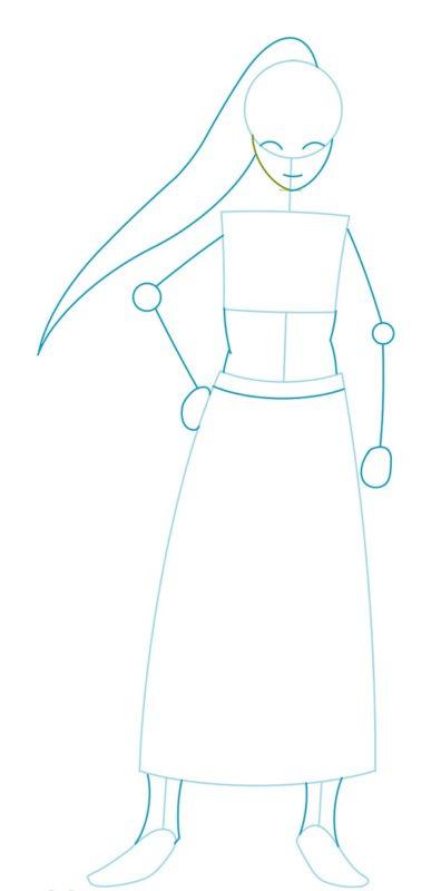 Как нарисовать Даркнесс из аниме 2
