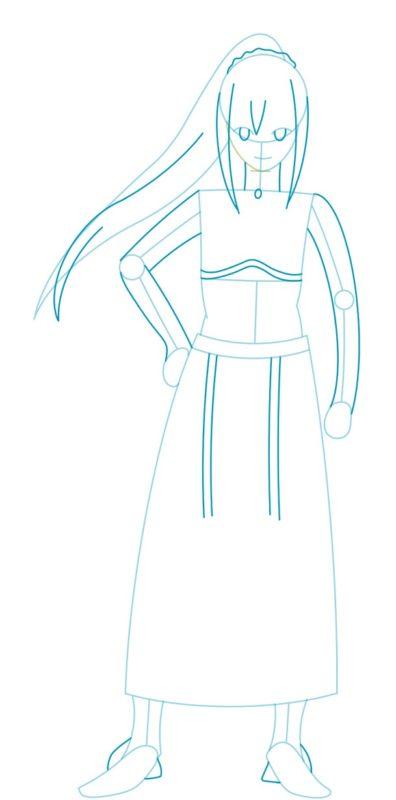 Как нарисовать Даркнесс из аниме 3
