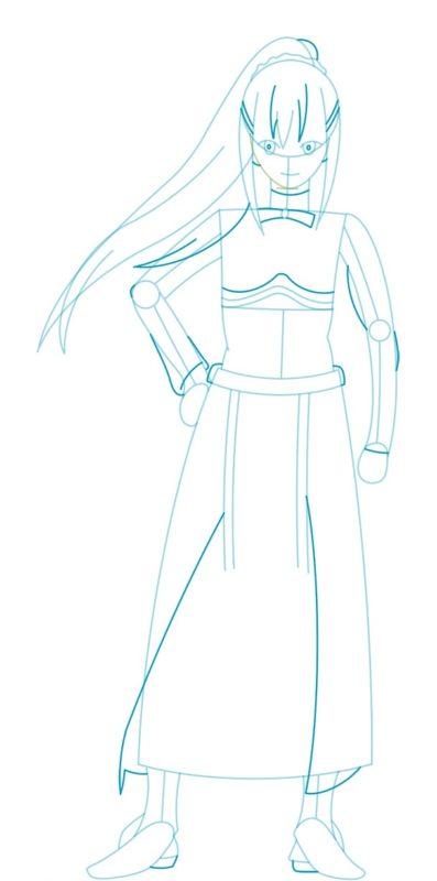 Как нарисовать Даркнесс из аниме 4