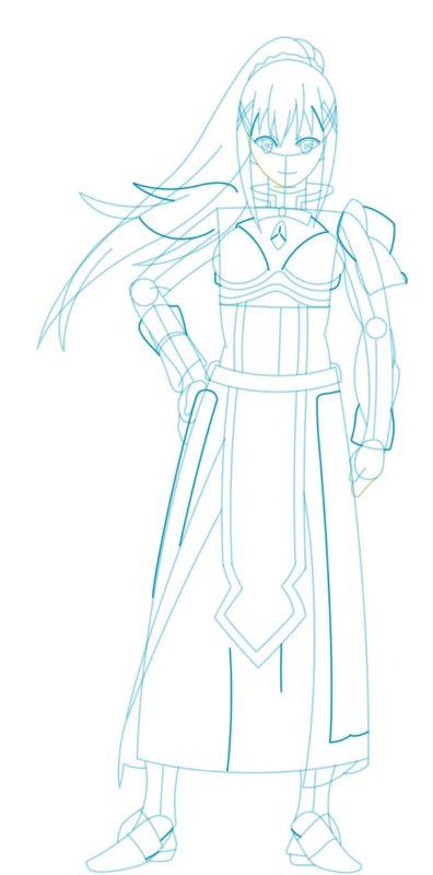 Как нарисовать Даркнесс из аниме 6