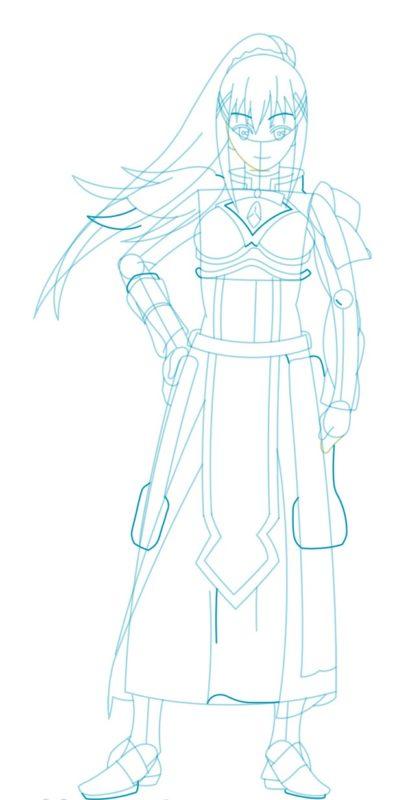 Как нарисовать Даркнесс из аниме 7