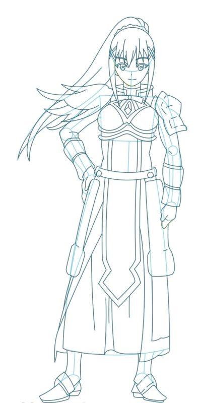 Как нарисовать Даркнесс из аниме 9