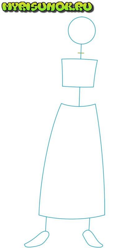 Как нарисовать Даркнесс из аниме