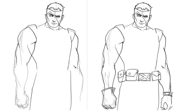 Рисуем Кейбла из комиксов 2