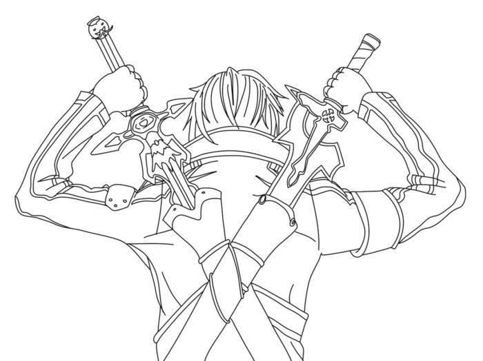 Рисовать Кирито из аниме 10