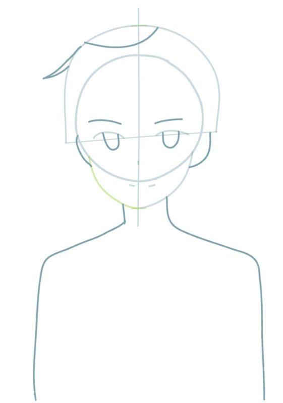 Как нарисовать Кирито 2