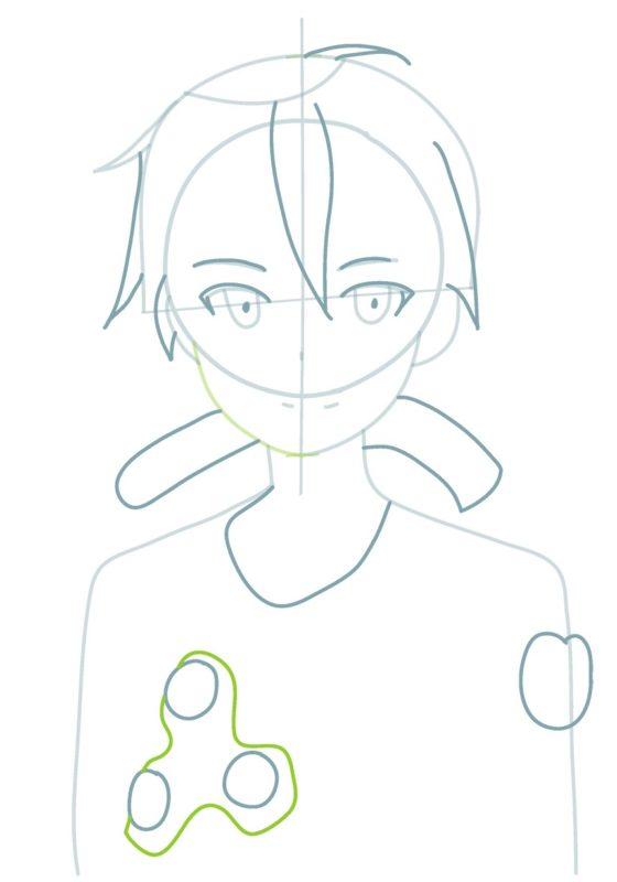 Как нарисовать Кирито 3