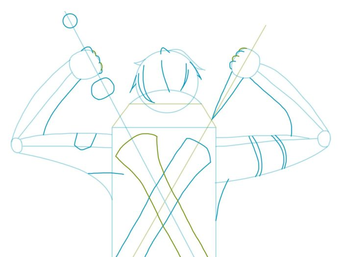 Рисовать Кирито из аниме 4