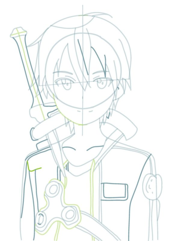 Как нарисовать Кирито 5