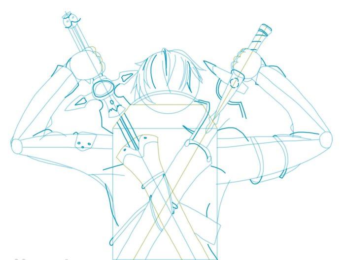 Рисовать Кирито из аниме 6